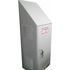 Антивандальный термошкаф 1900х800х600 со скатной крышей с вентиляцией и обогревом