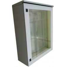 Термокожух с окном 1000х800х300 с обогревом и вентиляцией для монитора, телевизора