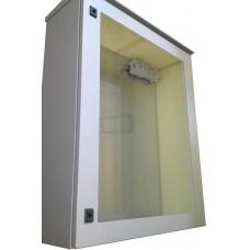 Термокожух с окном 800х600х250 с  обогревом и вентиляцией