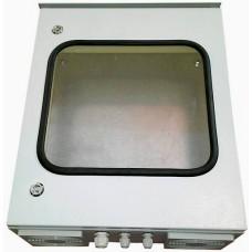 Термокожух с окном 500х500х250 с  обогревом и вентиляцией