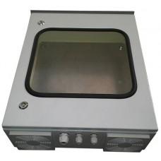 Термокожух с окном 600х600х250 с  обогревом и вентиляцией*