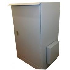 Антивандальный термошкаф 1200х600х600 24U утепленный с обогревом, уличный термошкаф взломостойкий