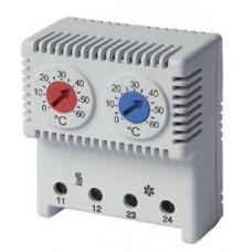 Сдвоенный термостат, диапазон температур для NC контакта: -10-50 °C; для NO: +20-80 °C