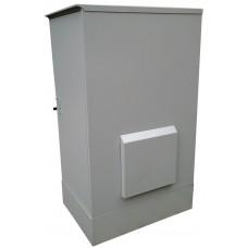 Антивандальный термошкаф 1200х600х800 24U утепленный с обогревом, вентиляция или кондиционер - опционально