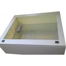 Термокожух с окном 1200х800х300 с обогревом и вентиляцией для монитора, телевизора
