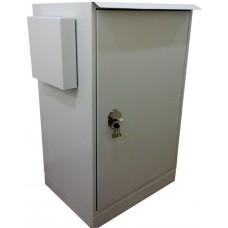 Антивандальный термошкаф 1200х800х600 24U утепленный с обогревом уличный термошкаф взломостойкий, вентиляция/кондиционер - опционально,