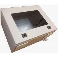 Термокожух с окном 600х400х250 с обогревом и вентиляцией* для монитора